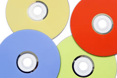 Colored CD Royalty Free Stock Photography