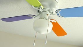 Colored Ceiling Fan Stock Photo