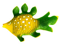 Colored ceramic fish. Stock Photo