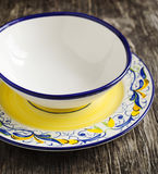 Colored ceramic plates. Stock Images