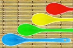 Colored ceramic spoon Royalty Free Stock Photos