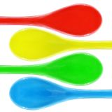 Colored ceramic spoon Royalty Free Stock Images