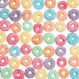 Colored cereal loops, texture Royalty Free Stock Images