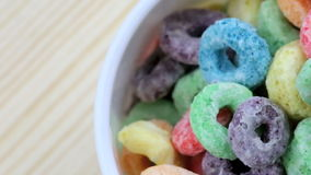 Colored  cereal stock footage