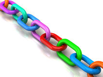 Colored chain Royalty Free Stock Photo