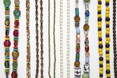 Colored chain of beads Royalty Free Stock Image
