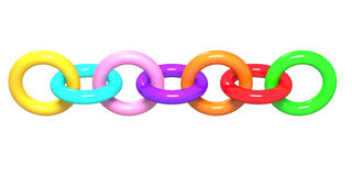 Colored chain Stock Photos