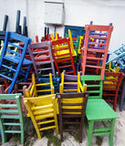 Colored chair Stock Photography