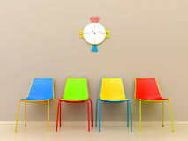 Colored chairs Royalty Free Stock Photography