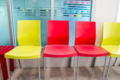 Colored chairs Royalty Free Stock Photos
