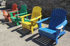 Colored Chairs Royalty Free Stock Image