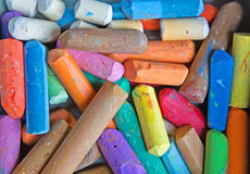 Colored chalk Stock Image