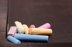 Colored chalk Royalty Free Stock Images