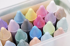 Colored Chalk 2. A box of pastel colored chalk Royalty Free Stock Image