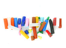 colored chalk . Stock Photos