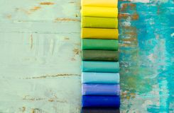Colored chalk Stock Images