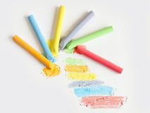 Colored chalk painting Royalty Free Stock Photography