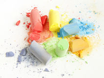 Colored chalk painting Stock Photos