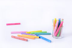 Colored chalk Royalty Free Stock Photo