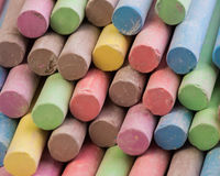 Colored Chalk. Set of dustless colored chalk background Stock Photography