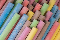 Colored Chalk. Set of dustless colored chalk background Royalty Free Stock Photography