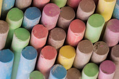 Colored Chalk. Set of dustless colored chalk background Stock Photos