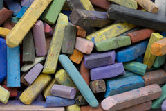 Colored chalks Royalty Free Stock Photos