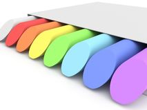 Colored chalks Stock Photo