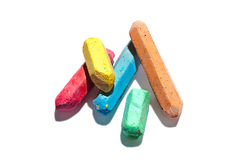 Colored chalks stock photography