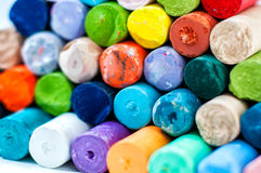 Colored chalks Stock Images