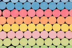 Colored chalks stacked Stock Images