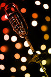 Colored champagne glass Stock Photos