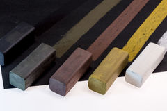 Colored charcoal sticks for drawing Royalty Free Stock Photography