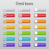 Colored check boxes Royalty Free Stock Image
