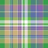 Colored check pixel plaid fabric seamless pattern. Flat design. Vector illustration Stock Image