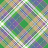 Colored check pixel plaid fabric seamless pattern. Flat design. Vector illustration Royalty Free Stock Photos
