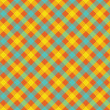 Colored check plaid fabric texture seamless pattern Royalty Free Stock Photos
