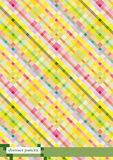 Colored checkered background. Pink and yellow checkered background Stock Photo