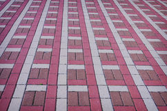 Colored checkered tile on the street Stock Image