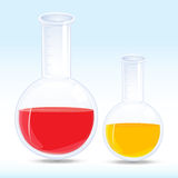 Colored chemical in flask Stock Image
