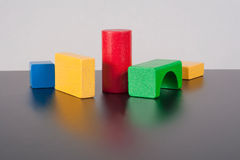 Colored Child Bricks Royalty Free Stock Photo