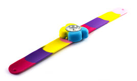 Colored child's watch. On white background Stock Image