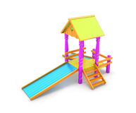 Colored child slide isolated on white background Royalty Free Stock Image