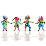 Colored children made of circles Stock Photos