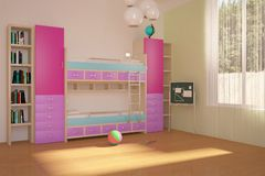 Colored Children Room Stock Photos