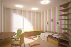 Colored children room royalty free illustration