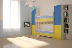 Colored children room. Bright children interior with colored furniture Stock Photo