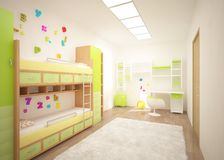Colored children room Royalty Free Stock Image
