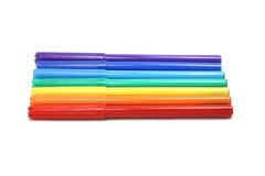 Colored children's markers Royalty Free Stock Photography