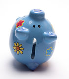 Colored children`s piggy Bank on white background. /pig piggy Bank for kids/  objects, ceramics, children Royalty Free Stock Images